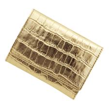 極小財布型押しメタリックゴールド BECKER(ドイツ製)