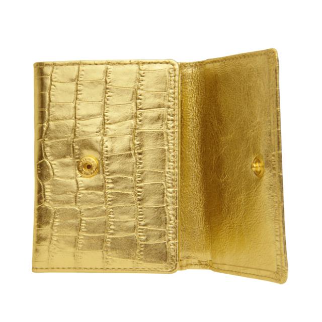 極小財布 MISS別注モデル「メタリック」型押しゴールド BECKER(ベッカー)