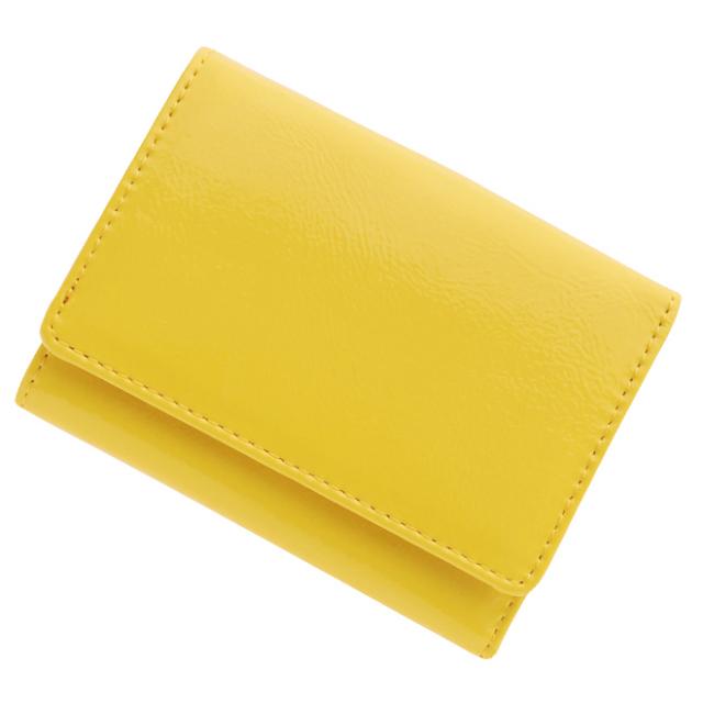 極小財布 エナメル(イエロー)ベーシック型小銭入れ BECKER(ベッカー)