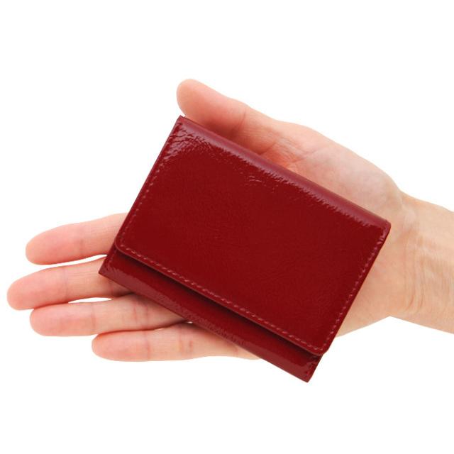 極小財布エナメル×スムース