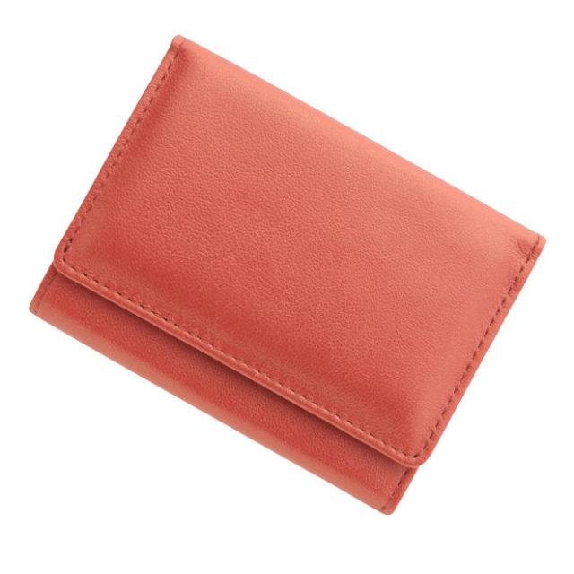 極小財布シープメタ シャイニーストロベリーレッド