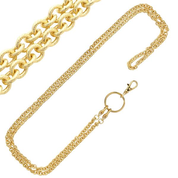 【アンティーク風】ゴールド「ロング」チェーン 130cm
