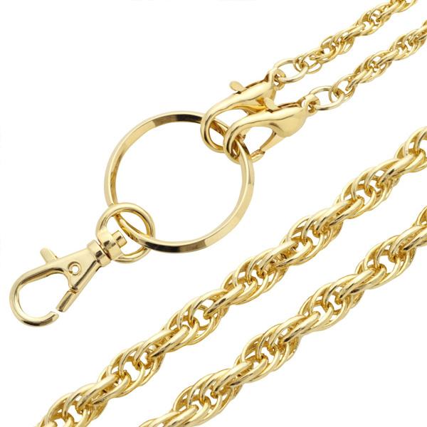 【フレンチロープ】ゴールド「ロング」チェーン 130cm