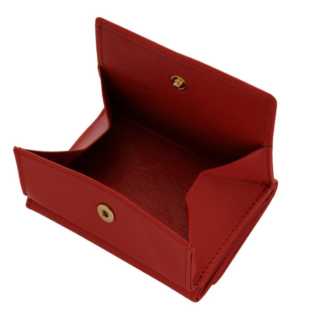極小財布ボックス型小銭入れ牛革