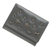 極小財布 星スタッズ スムース/牛革 グレー ベーシック型小銭入れ