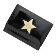 極小財布 進藤やす子コラボ「星✕エナメルブラック」 BECKER(ベッカー)日本製
