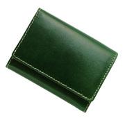 極小財布 トスカーナレザー/牛革 グリーン ベーシック型 BECKER(日本製)