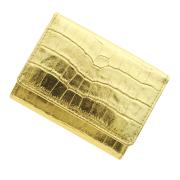 極小財布 クロコ型押し/牛革 メタリックゴールド ベーシック型小銭入れ BECKER(ベッカー)日本製