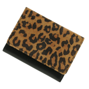 極小財布ピッグスエード レオパード×ブラック BECKER(日本製)