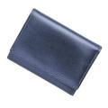 極小財布メタリックダークブルー