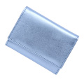 極小財布メタリックライトブルー