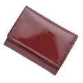 極小財布エナメルワインレッド
