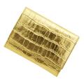 極小財布型押しメタリックゴールド