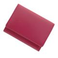 極小財布 スムース 牛革 マゼンタ BECKER(ベッカー) 日本製 ミニ財布/本革