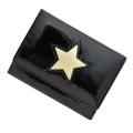 極小財布 進藤やす子コラボ「エナメル」星型ブラック BECKER(ベッカー)日本製