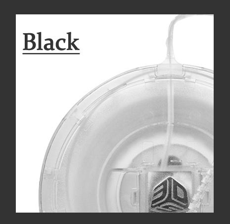 Cube(3rd)用フィラメント ブラック【ABS樹脂カートリッジ】