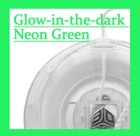 Cube(3rd)用フィラメント グローインザダーク ネオングリーン(蓄光ネオン緑)【ABS樹脂カートリッジ】
