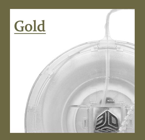 Cube(3rd)用フィラメント ゴールド【ABS樹脂カートリッジ】