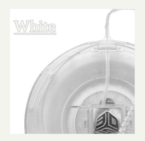 Cube(3rd)用フィラメント ホワイト【ABS樹脂カートリッジ】