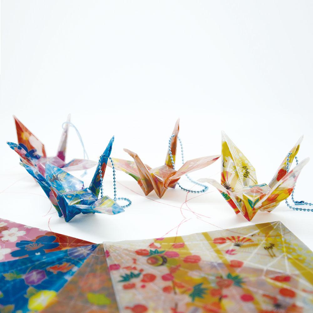 反射折り鶴(千代紙)1