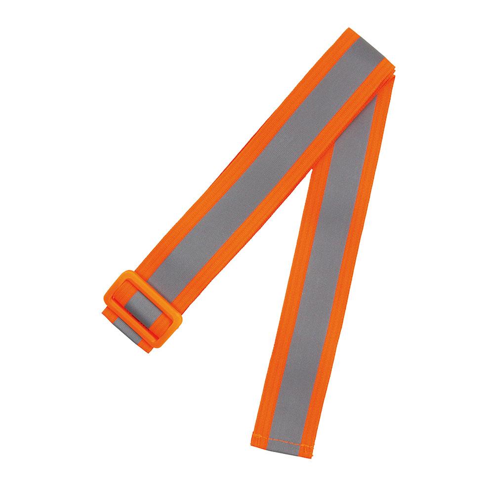 両面反射バックル付オレンジタスキ1