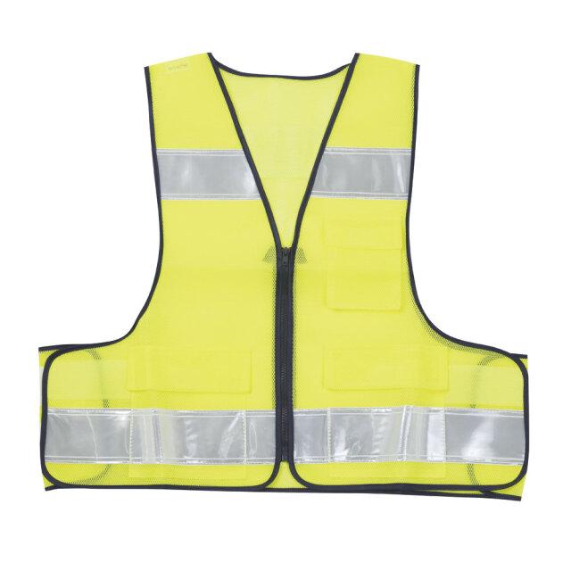 セーフティメッシュベスト蛍光黄色1