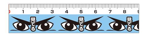 マスキング(防犯)・目「見てる」