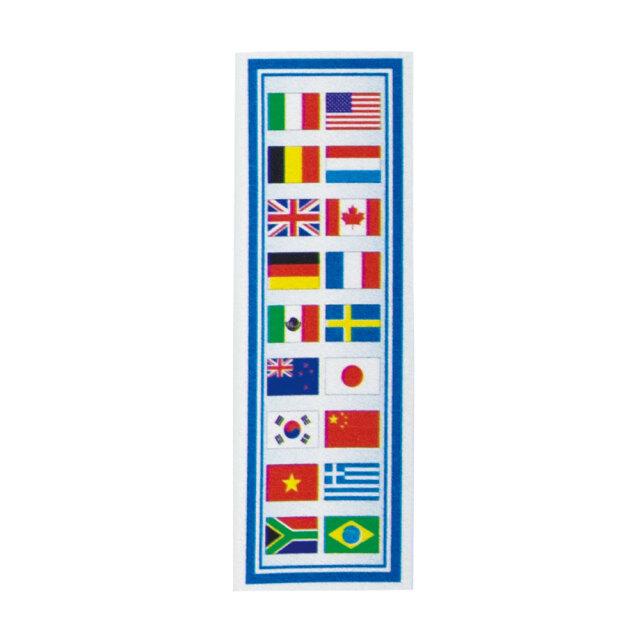 反射ステッカーピカットくん国旗1