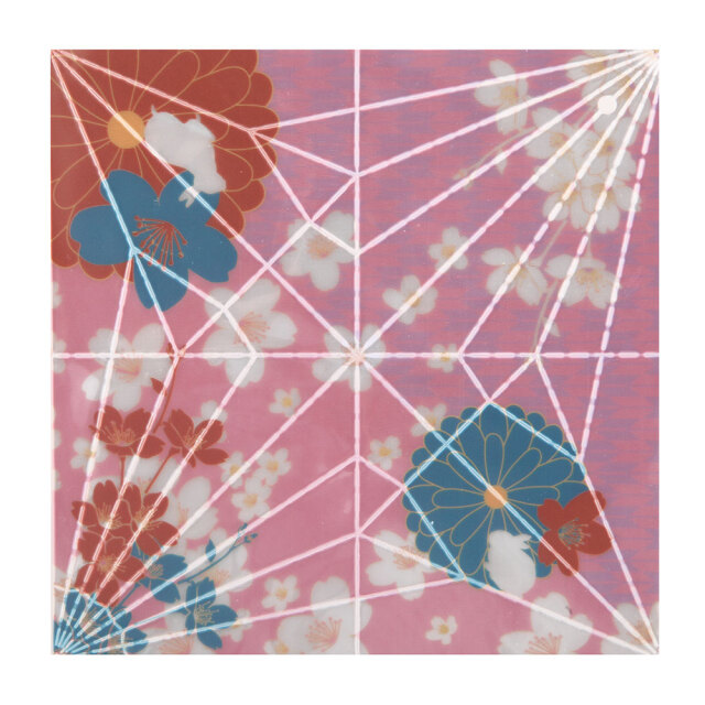 反射折り鶴(千代紙)2