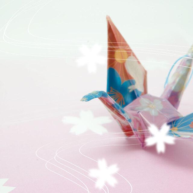 反射折り鶴(千代紙)6