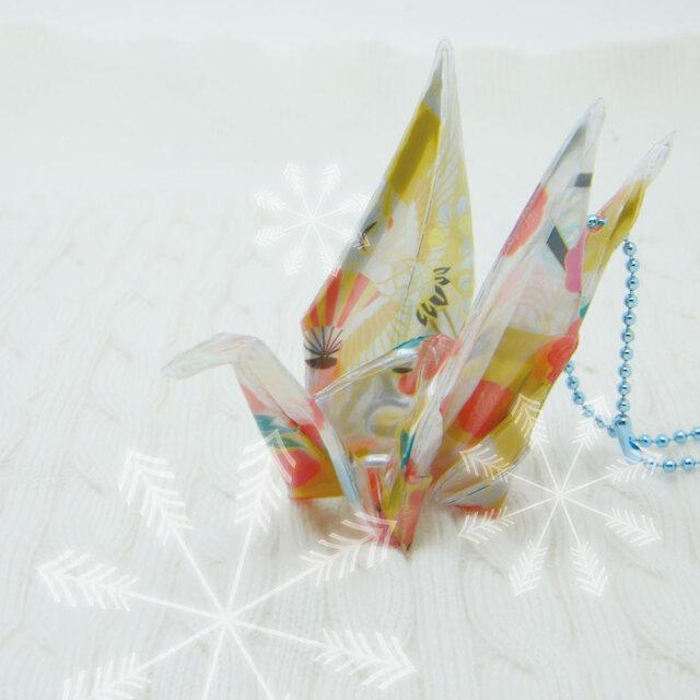 反射折り鶴(千代紙)9