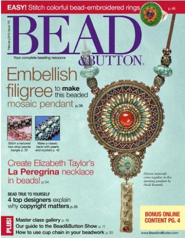 Bead & Button  (洋雑誌 定期購読 1380円x6冊 )