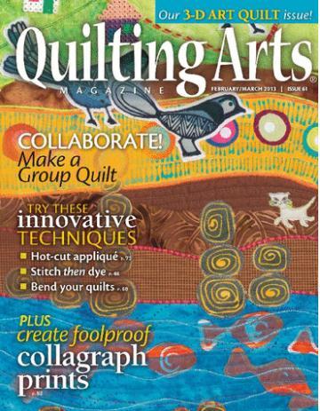Quilting Arts  (洋雑誌 定期購読 1730円x6冊 )