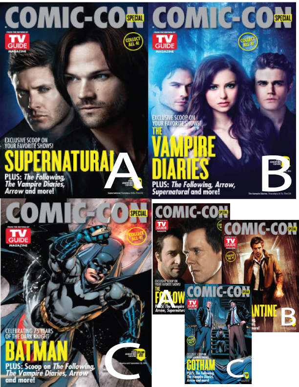 TV Guide Comic Con 2014│コミコンスペシャルTVガイド│Supernatural/The Vampire Diaries/Batman送料込み