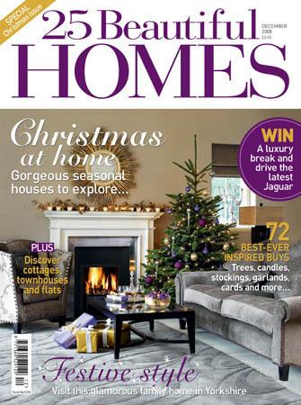 25 Beautiful Homes/25ビューティフルホームズ  (イギリス住宅雑誌 定期購読 1680円x12冊 )