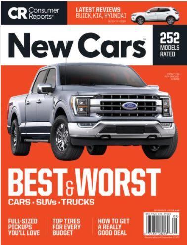 <お取り寄せ品>CONSUMER REPORT NEW CARS 2021年6月、9月