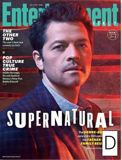スーパーナチュラル表紙Entertainment Weekly