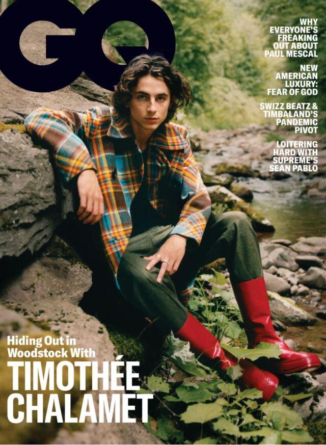 GQ Magazine  November 2020 ティモシーシャラメ 表紙