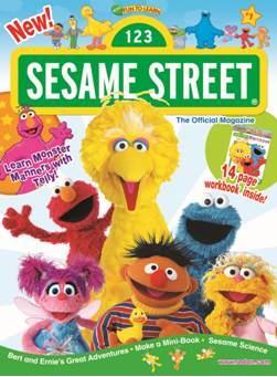 SesameStreet Magazine /セサミストリート (アメリカ幼児英語教材の定期購読 980円x6冊)