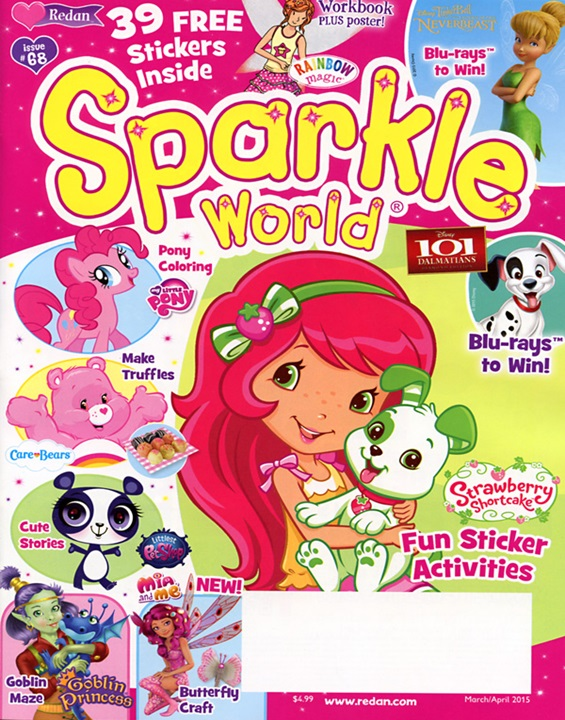 Sparkle World Magazine/スパークルワールド (アメリカ幼児英語教材の定期購読 1080円x6冊)