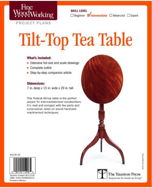 <ご予約のお客様専用>Fine Woodworking's Tilt-Top Tea Table Plan