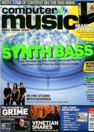 Computer Music(イギリス音楽雑誌 定期購読 2100 円x12冊)