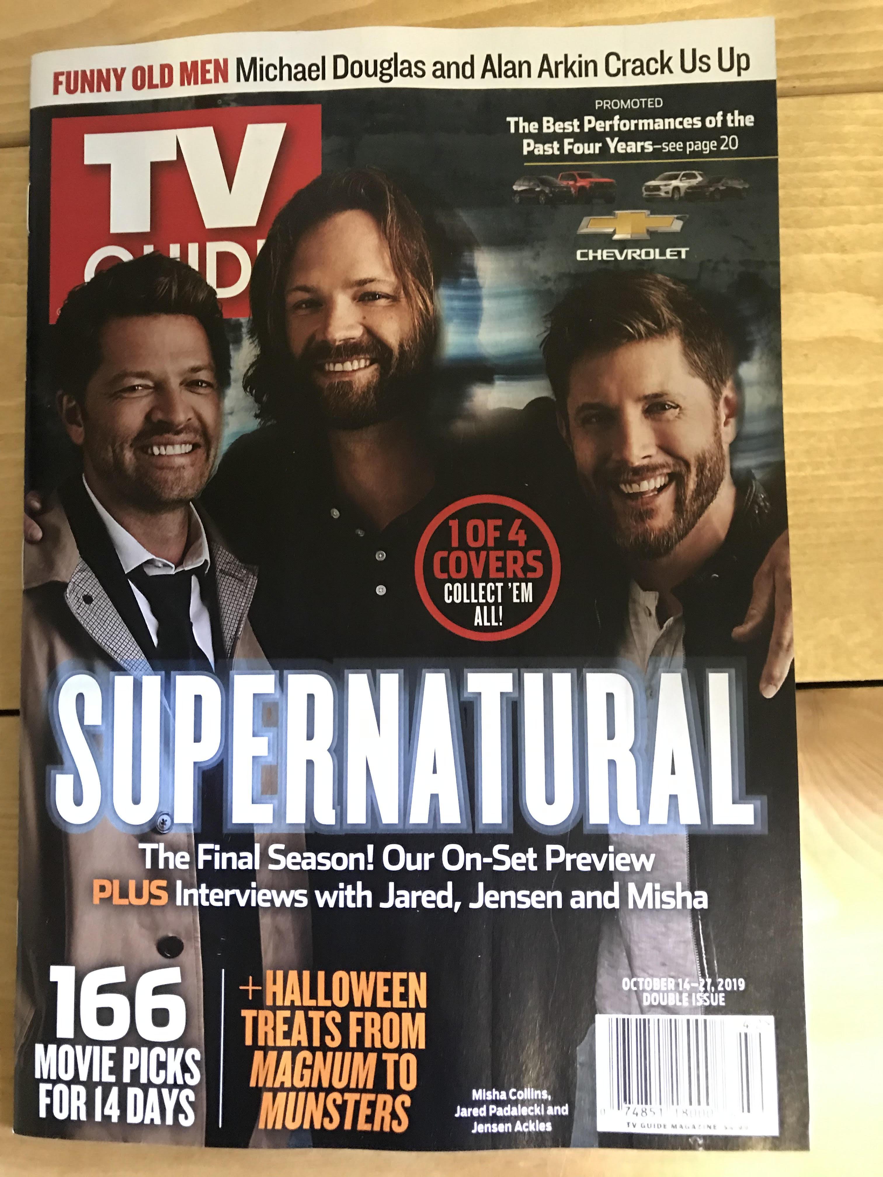 TVguideスーパーナチュラル表紙