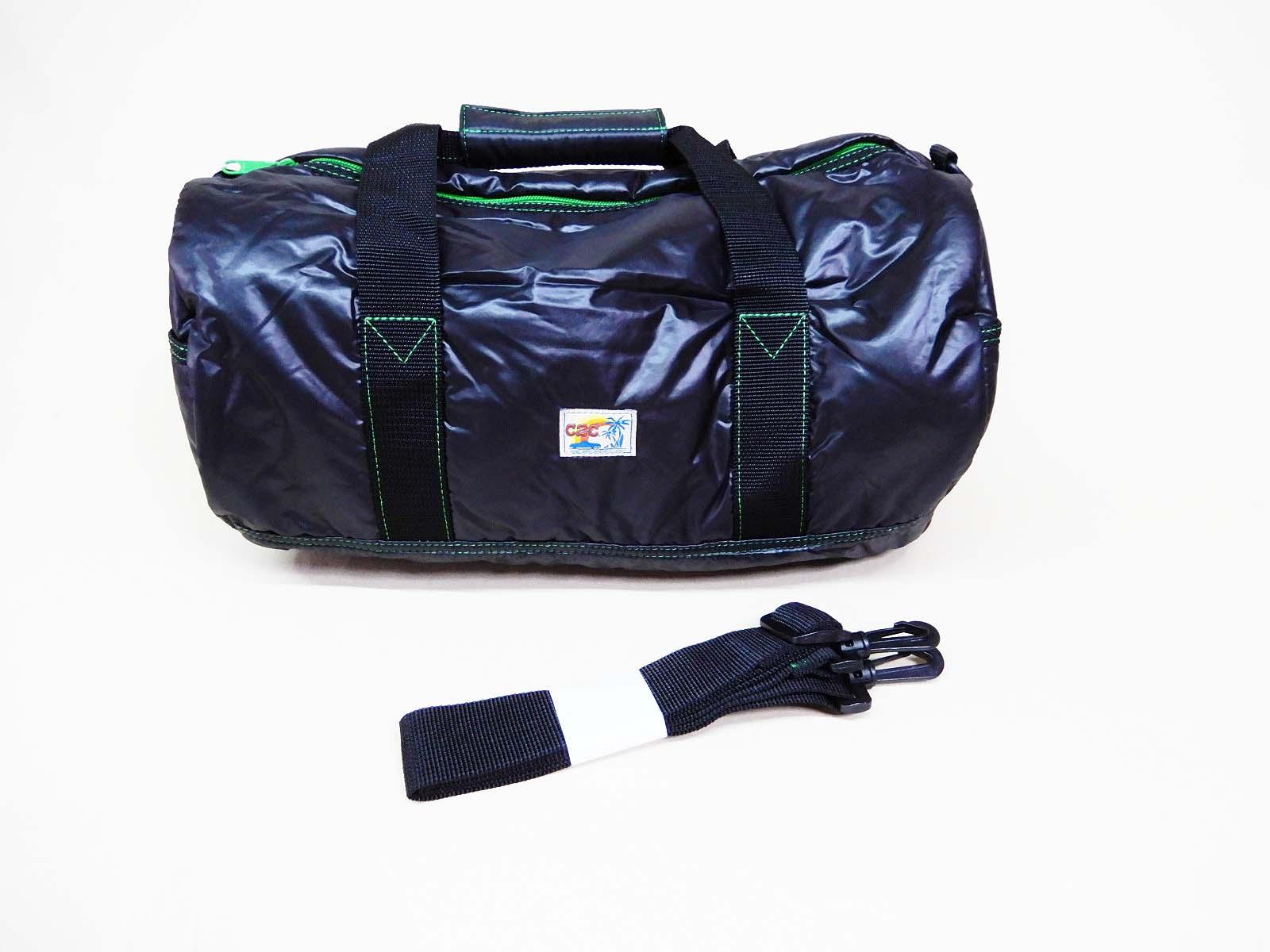 COAST 2 COAST ドラムバック『ブラックxグリーン』パラシュート生地使用 軽量 旅行 小旅行 普段使い お出かけ ピクニック 行楽 スポーツ