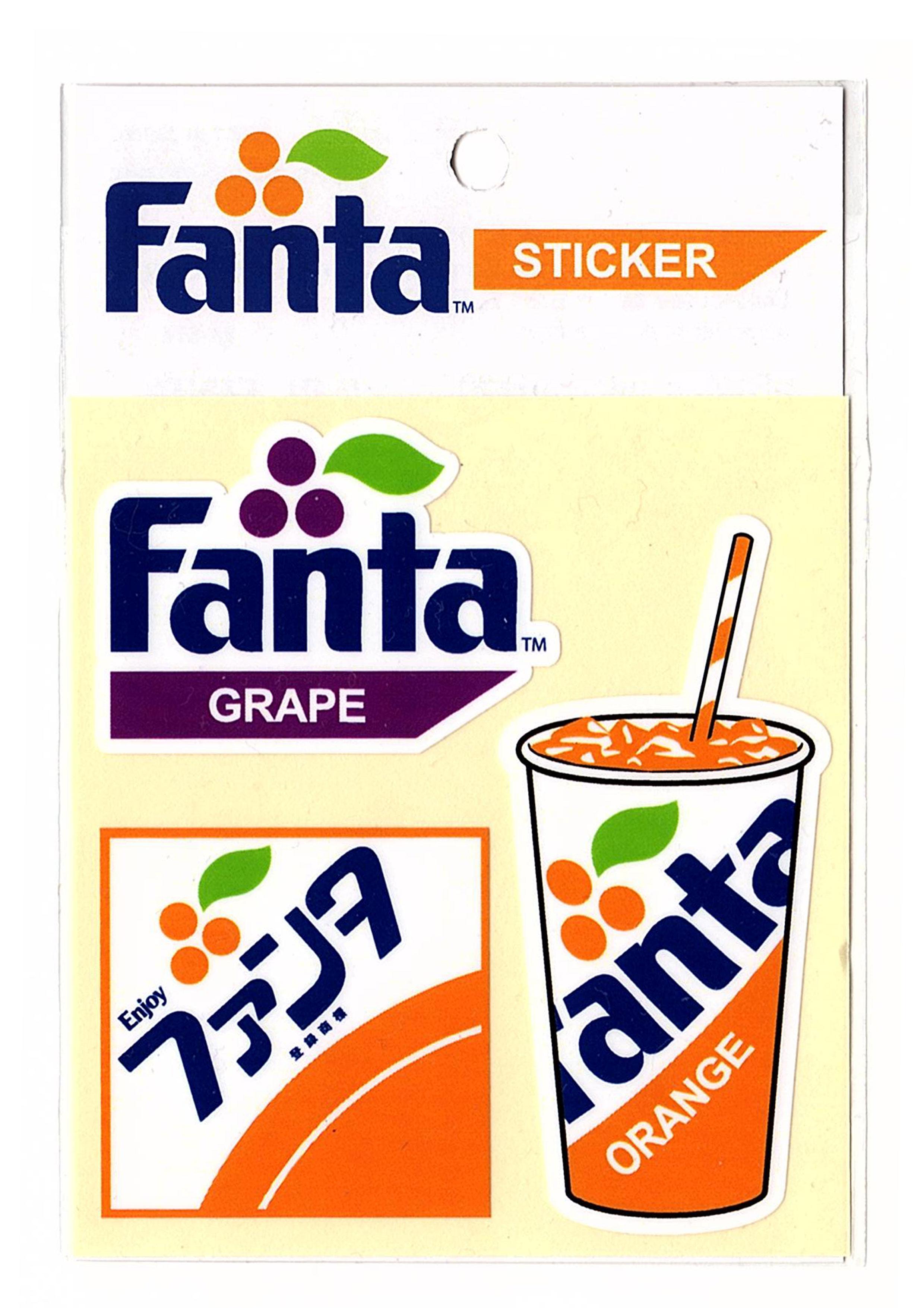 Fanta☆FA-ST27☆ファンタ☆Fanta Value Sticker ファンタ バリュー ステッカー ファンタオレンジ ファンタグレープ