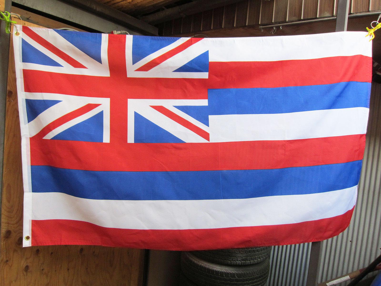 Hawaii Flag 3x5ft ★ハワイ州旗 みんな大好きハワイの州の旗 約150X90cm アメリカン雑貨 [並行輸入品]