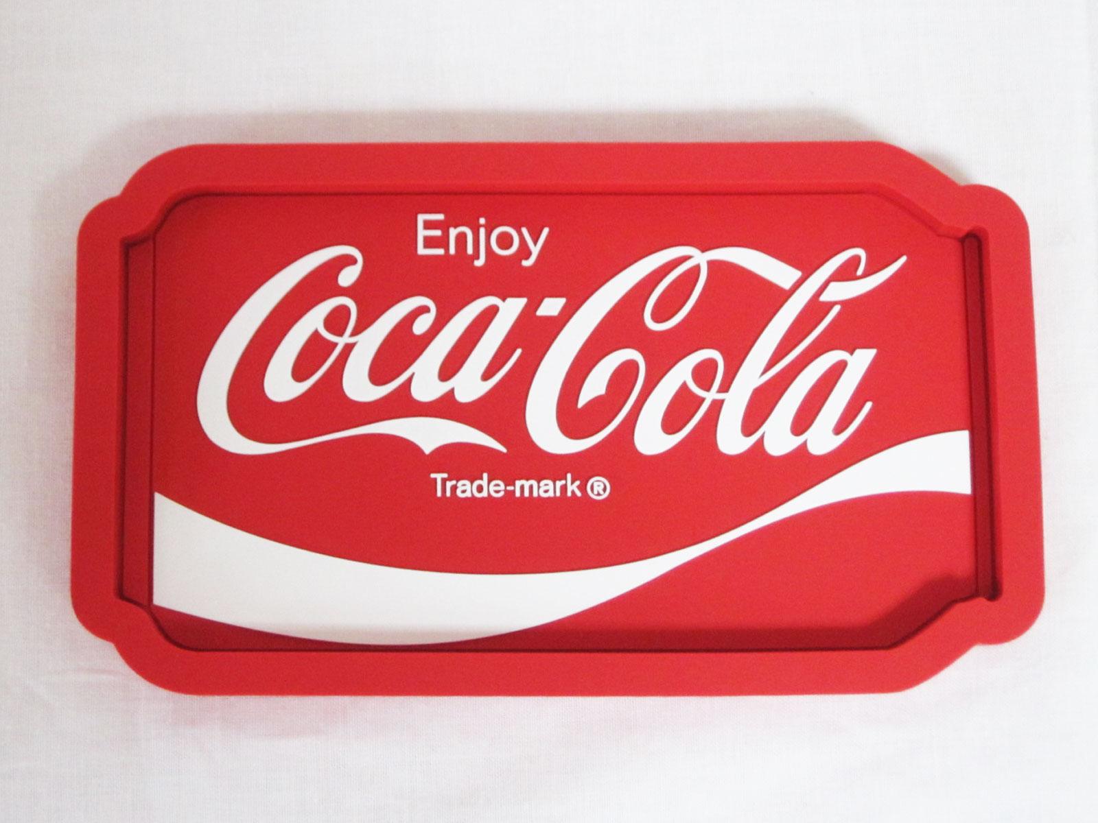 コカ・コーラ デスクトップサイン ラバートレイ ☆CAN★Coca-Cola /コカ・コーラ
