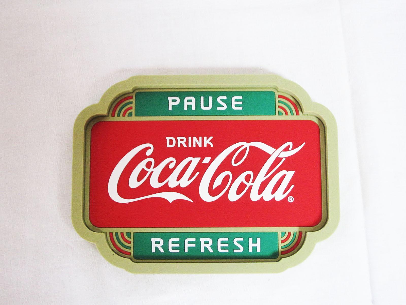 コカ・コーラ デスクトップサイン ラバートレイ ☆PAUSE★Coca-Cola /コカ・コーラ