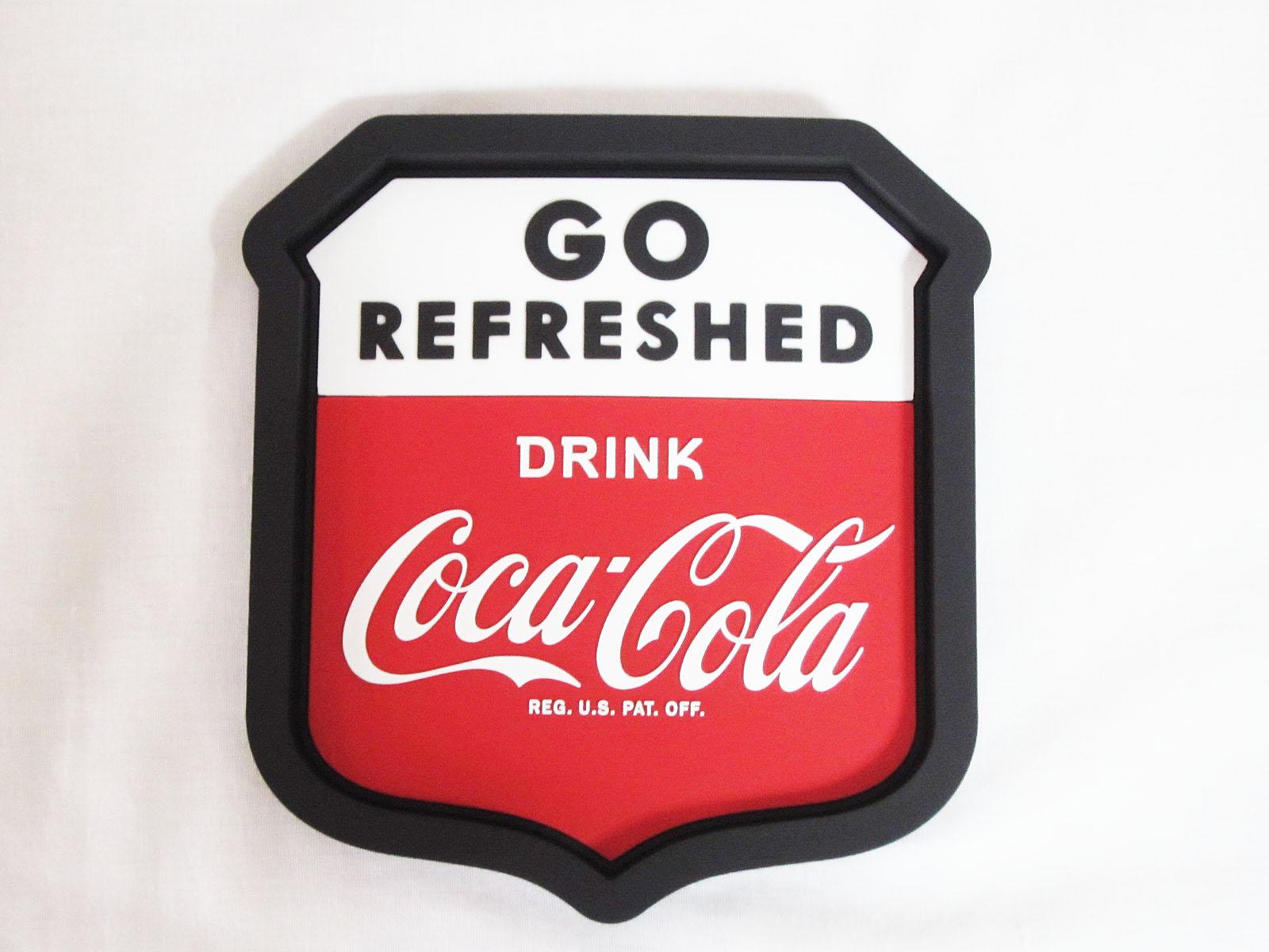 コカ・コーラ デスクトップサイン ラバートレイ ☆GO★Coca-Cola /コカ・コーラ
