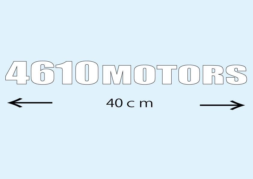 4610 MOTORS Lサイズ WHT カッティングステッカー/シロウトモータース